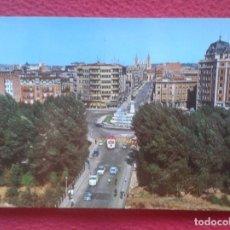 Postales: POSTAL POST CARD LEÓN PLAZA DE GUZMÁN EL BUENO Y AVENIDA ORDOÑO II COCHES CAMIONES ÉPOCA....VER FOTO. Lote 195102356