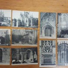 Postales: LOTE DE 11 POSTALES CATEDRAL DE LEÓN. FOTOTIPIA THOMAS BARCELONA. 14,00X9,00 CM. SIN CIRCULAR.. Lote 195141501