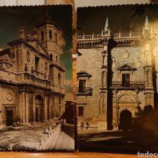 Postales: VALLADOLID, LOTE DOS POSTALES COLOREADAS. RARAS. VED REVERSO.. Lote 195146266
