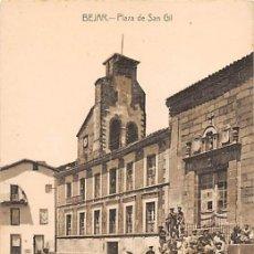 Postales: BÉJAR.- PLAZA DE SAN GIL. Lote 195261491