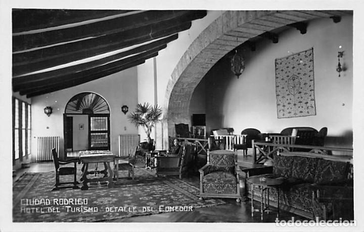 CIUDAD RODRIGO.- HOTEL DEL TURISMO DETALLE DEL COMEDOR (Postales - España - Castilla y León Antigua (hasta 1939))