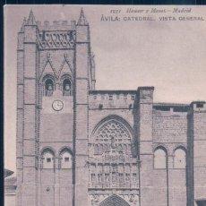 Postales: POSTAL AVILA - CATEDRAL - VISTA GENERAL - HAUSER Y MENET. Lote 195320685