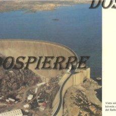 Postales: POSTAL, VILLARINO, VISTA AEREA DE PRESA, BÓVEDA DE ALMENDRA DEL SALTO, ED. IBERDUERO, SIN CIRCULAR. Lote 195383187
