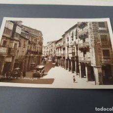 Postales: POSTAL DE SORIA, CALLE DE CANALEJAS ACTUAL CALLE DEL COLLADO. AÑOS 30. Lote 195436815