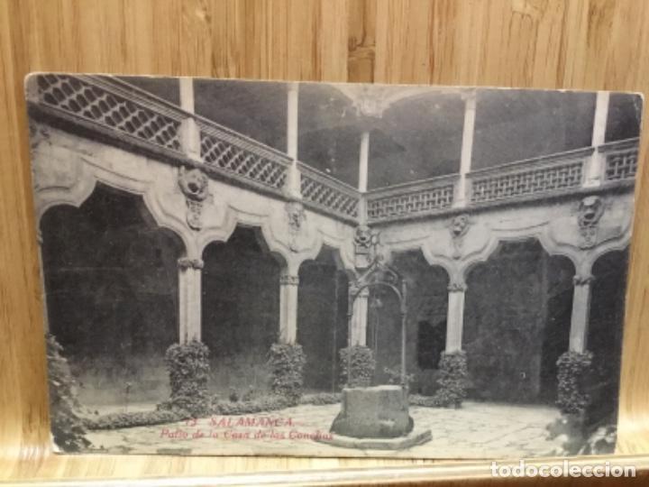 POSTAL DE SALAMANCA.13.PATIO DE LA CASA DE LAS CONCHAS.EDICION TALAVERA.FOTO SAUS. (Postales - España - Castilla y León Antigua (hasta 1939))