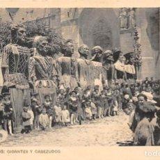 Postales: BURGOS.- GIGANTES Y CABEZUDOS. Lote 195456500