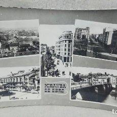 Postales: ANTIGUA POSTAL DISTINTAS VISTAS DE MIRANDA DE EBRO BURGOS - CASTILLA Y LEÓN AÑOS 60 . Lote 195489965