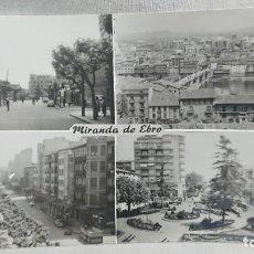 Postales: ANTIGUA POSTAL AVENIDA GENERALÍSIMO FRANCO MIRANDA DE EBRO BURGOS - CASTILLA Y LEÓN AÑOS 60 . Lote 195492752