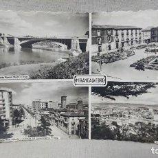 Postales: ANTIGUA POSTAL VISTAS VARIAS DE MIRANDA DE EBRO BURGOS - CASTILLA Y LEÓN AÑOS 60 . Lote 195492853