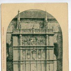 Postales: RECUERDO DE SALAMANCA. PUERTA PRINCIPAL DE LA UNIVERSIDAD. LIBRERÍA Y PAPELERÍA CUESTA. Lote 196285650