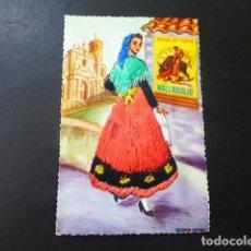 Postales: VALLADOLID MUJER VALLISOLETANA TRAJE BORDADO POSTAL. Lote 196296001