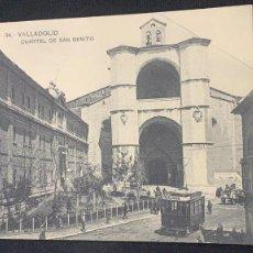 Postales: ANTIGUA POSTAL VALLADOLID CUARTEL SAN BENITO 34 FOTÓGRAFO LJ S XX. Lote 197392748