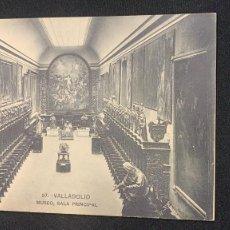 Postales: ANTIGUA POSTAL VALLADOLID MUSEO SALA PRINCIPAL 27 FOTÓGRAFO LJ S XX. Lote 197393272