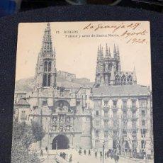 Postales: POSTAL BURGOS 12 PUENTE Y ARCO SANTA MARÍA 1922 S XX. Lote 197423560
