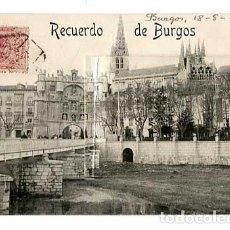 Cartoline: BURGOS POSTAL DESPLEGABLE CON 10 IMÁGENES. CIRCULADA. Lote 197574736