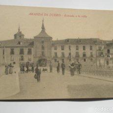 Postales: POSTAL DE ARANDA DE DUERO. BURGOS. ENTRADA A LA VILLA. Lote 197870251