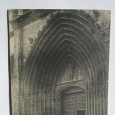 Postales: POSTAL DE ARANDA DE DUERO. BURGOS. PÓRTICO OJIVAL DE LA IGLESIA DE SAN JUAN. Lote 197870421