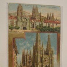 Postales: BURGOS. POSTAL PUBLICITARIA CATEDRAL COLOR. . Lote 198034898