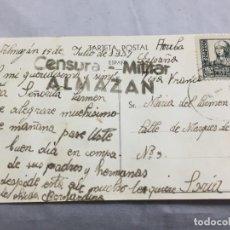 Postales: POSTAL DE ALMAZÁN SORIA 1937 GUERRA CIVIL CON CENSURA MILITAR, CIRCULADA.. Lote 198180948