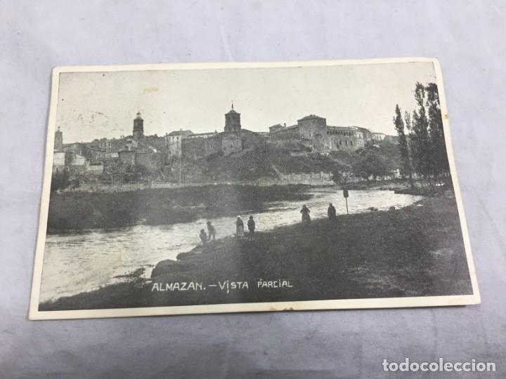 Postales: Postal de Almazán Soria 1937 Guerra civil con Censura Militar, circulada. - Foto 2 - 198180948