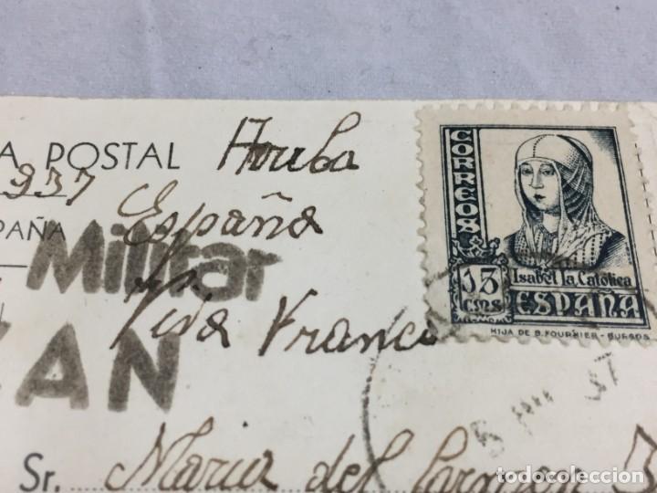 Postales: Postal de Almazán Soria 1937 Guerra civil con Censura Militar, circulada. - Foto 5 - 198180948