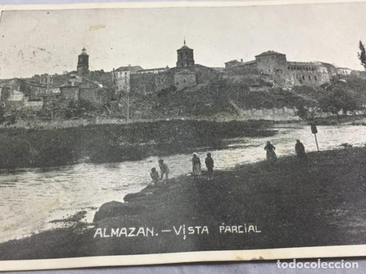 Postales: Postal de Almazán Soria 1937 Guerra civil con Censura Militar, circulada. - Foto 3 - 198180948