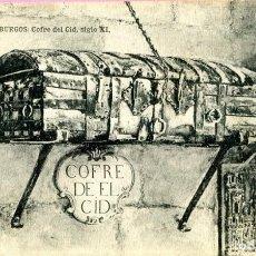 Postales: POSTAL ANTIGUA DE BURGOS - COFRE DEL CID - SIN CIRCULAR NUEVA- FOTO HAUSER Y MENET. Lote 199387428
