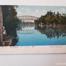 Postales: 1905, VALLADOLID, PUENTE COLGANTE, POSTAL 0255. Lote 200731776