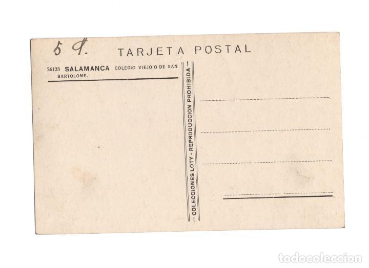 Postales: SALAMANCA.- COLEGIO VIEJO O DE SAN BARTOLOME. - Foto 2 - 200855637