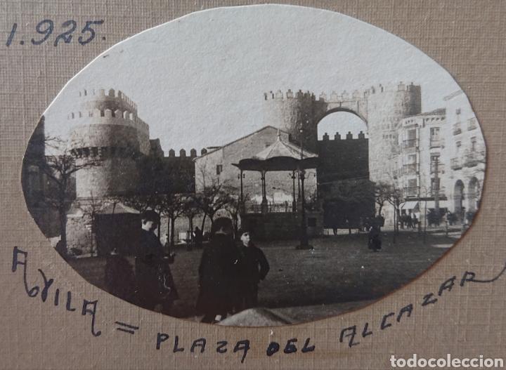 FOTO ÁVILA, PLAZA DEL ALCÁZAR, 1925, ORIGINAL, BUENA FOTO (Postales - España - Castilla y León Antigua (hasta 1939))