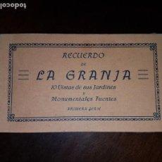 Postales: BLOCK DE POSTALES RECUERDO DE LA GRANJA DE SAN ILDEFONSO. Lote 204092135