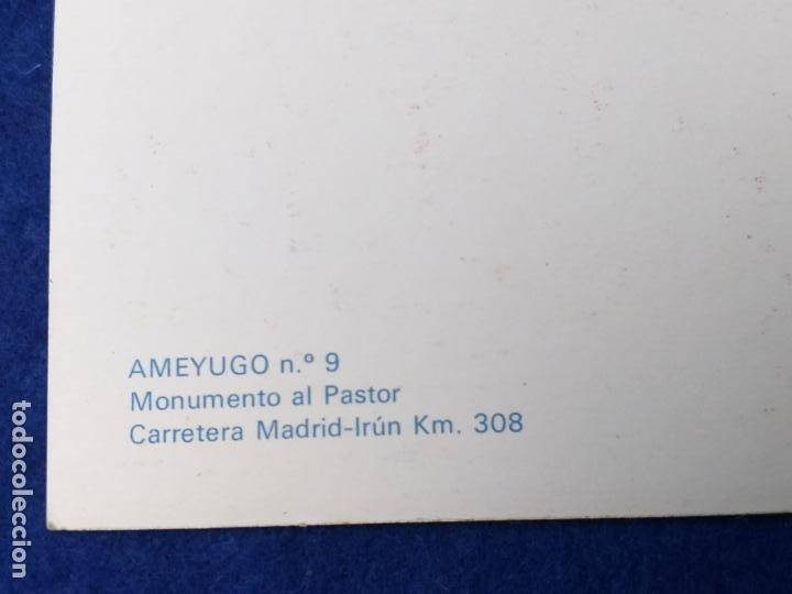 Postales: POSTAL DE BURGOS. AMEYUGO. MONUMENTO AL PASTOR. ED. SICILIA Nº 9. AÑO 1968. SIN CIRCULAR - Foto 3 - 204324503