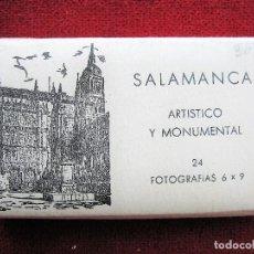 Postales: ACORDEÓN CON 24 FOTOGRAFÍAS DE SALAMANCA,, EDICIONES MANIPIEL 10 X 6,5 CMS., SIN HABERSE OJEADO. Lote 204357595