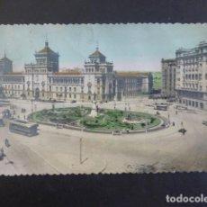Postales: VALLADOLID PLAZA DE ZORRILLA Y ACADEMIA DE CABALLERIA. Lote 263202245