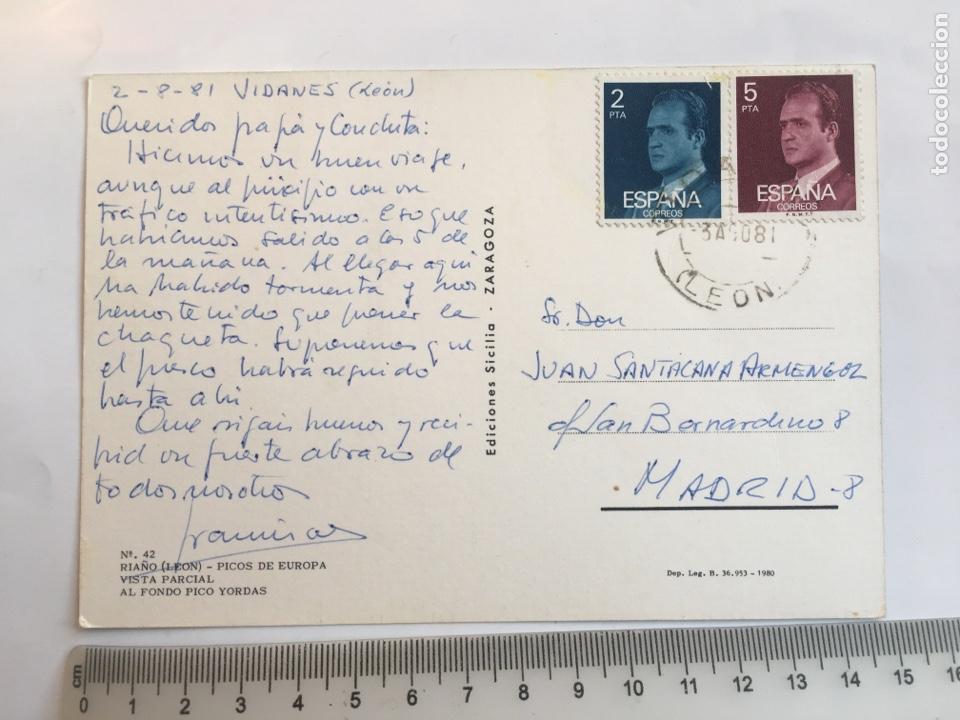 Postales: POSTAL. RIAÑO. LEON. PICOS DE EUROPA. VISTA PARCIAL. AL FONDO PICO YORDAS. EDICIONES SICILIA. - Foto 2 - 205340043