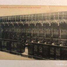 Postales: BURGOS. POSTAL NO.146, LA CARTUJA. SILLERÍA DEL CORO DE LOS PADRES. FOTOTIPIA THOMAS (H.1920?). Lote 205755118