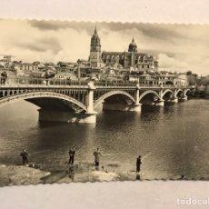 Postales: SALAMANCA. POSTAL NO.208, PUENTE NUEVO SOBRE EL RÍO TORMES. EDICIONES AIDSA (A.1960) ESCRITA.. Lote 206291321