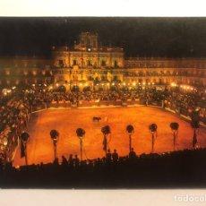 Postales: SALAMANCA. POSTAL NO.76, CORRIDA GOYESCA EN PLAZA MAYOR. EDICIONES MANIPEL (A.1972) S/C. Lote 206299478