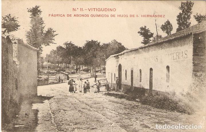 VITIGUDINO (SALAMANCA) FÁBRICA DE ABONOS QUÍMICOS DE HIJOS DE I.FERNÁNDEZ (Postales - España - Castilla y León Antigua (hasta 1939))