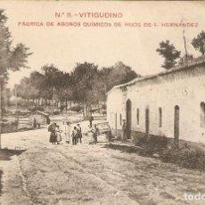 Postales: VITIGUDINO (SALAMANCA) FÁBRICA DE ABONOS QUÍMICOS DE HIJOS DE I.FERNÁNDEZ. Lote 206534670