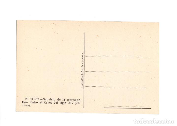 Postales: TORO.(ZAMORA).- SEPULCRO DE LA ESPOSA DE DON PEDRO EL CRUEL DEL SIGLO XIV. - Foto 2 - 206577206