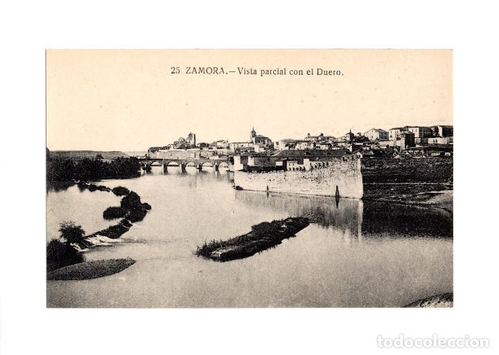 ZAMORA.- VISTA PARCIAL CON EL DUERO. (Postales - España - Castilla y León Antigua (hasta 1939))