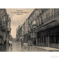 Postales: PALENCIA.- UN TROZO DE LA CALLE MAYOR PRINCIPAL.. Lote 206815666