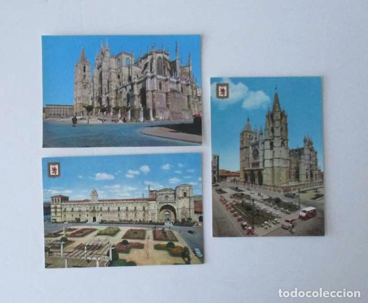 Postales: CINCO POSTALES DE LEON - EDICIONES SUBIRATS CASANOVAS - Foto 2 - 206887365