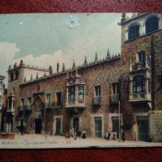 Postales: BURGOS Nº 6 LA CASA DEL CORDON .- L.L.. Lote 207274405