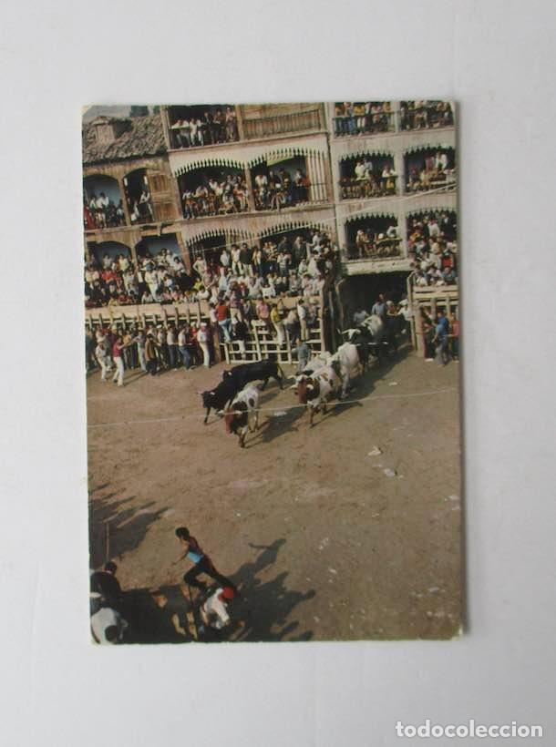 POSTAL DE PEÑAFIEL, VALLADOLID - PLAZA DEL COSO, ENCIERRO (Postales - España - Castilla y León Moderna (desde 1940))