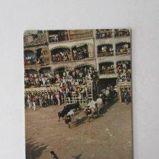 Postales: POSTAL DE PEÑAFIEL, VALLADOLID - PLAZA DEL COSO, ENCIERRO. Lote 207500618