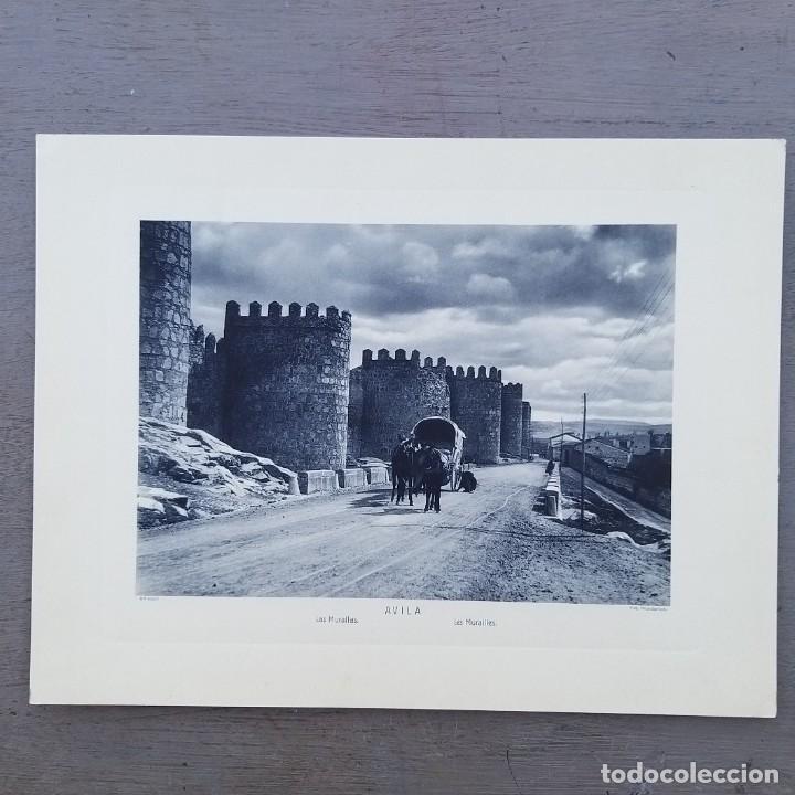 GRAN FOTOGRAFIA/FOTOTIPIA IMPRESA LAS MURALLAS-AVILA FOTO OTTO WUNDERLICH, (Postales - España - Castilla y León Antigua (hasta 1939))