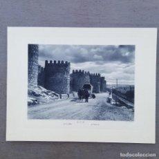Postales: GRAN FOTOGRAFIA/FOTOTIPIA IMPRESA LAS MURALLAS-AVILA FOTO OTTO WUNDERLICH,. Lote 208177588