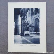 Postales: GRAN FOTOGRAFIA/FOTOTIPIA IMPRESA CATEDRAL-AVILA FOTO OTTO WUNDERLICH,. Lote 208177786